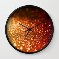 bisexual Wall Clocks featuring Fire and flames  by Better HOME