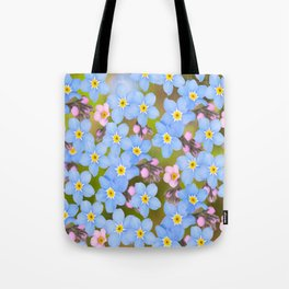 Forget-me-not flowers and buds - summer meadow Tote Bag