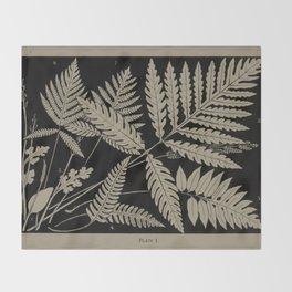 New England Ferns Throw Blanket