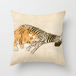 A Self Containing Food Chain Throw Pillow