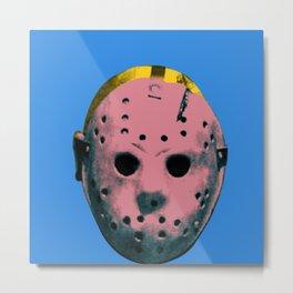 Warhol Jason Vorhees Metal Print