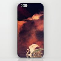 swan iPhone & iPod Skins featuring Swan by MikakoskArts