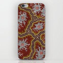 Aboriginal Art Authentic - Mountains iPhone Skin