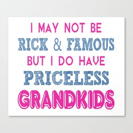 Priceless Grandkids Canvas Print