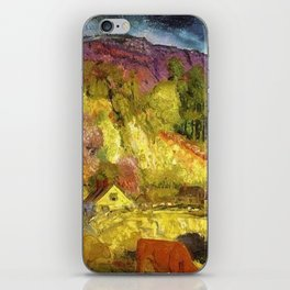 The Village on the Hill landscape painting by George Wesley Bellows iPhone Skin