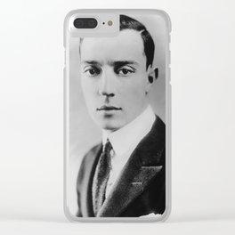 Vintage Buster Keaton portrait Clear iPhone Case