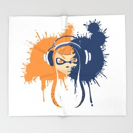 Splatoon: Squid Girl Splash Jam Throw Blanket