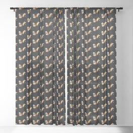 Sushi Dogs - Ebi sushi puppies corgi Coton de Tulear Sheer Curtain