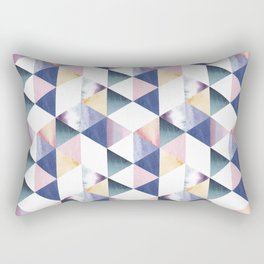 Watercolor geometric pastel colored seamless pattern Rectangular Pillow
