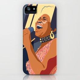 Aretha Franklin Portrait iPhone Case