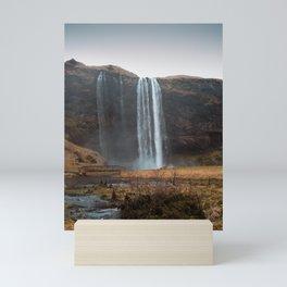 Seljalandsfoss Waterfall, Iceland Mini Art Print