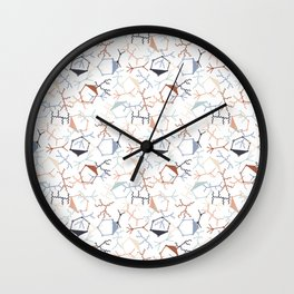 Chaotic Particle Physics on White Wall Clock