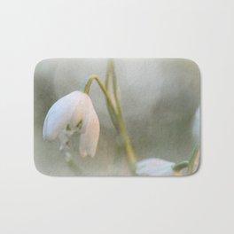 Faded Snowdrop Bath Mat