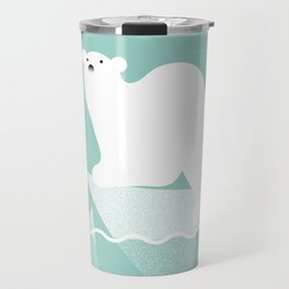 Polar bear in trouble Travel Mug