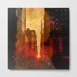 Midtown, Urban Grunge Metal Print