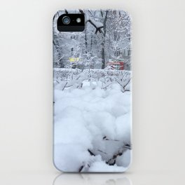 The Snowy day. iPhone Case