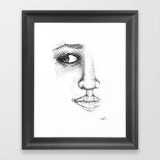 Fine Liner Stippling Girl 1 Framed Art Print