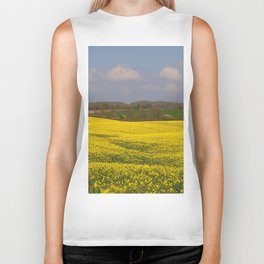 Blooming in yellow 3 Biker Tank