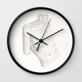 Bust of a Woman, Side On Wall Clock