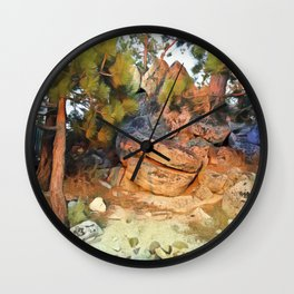Sunset on the Rocks - Tahoe Wall Clock