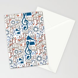 Music Pattern No.1 Stationery Cards