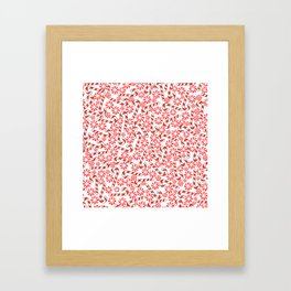 Cute Candy Holiday Pattern Framed Art Print