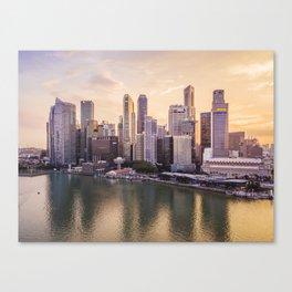 City of Singapore at sunset Canvas Print