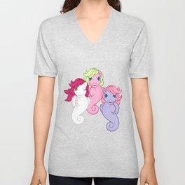 g1 my little pony sea ponies Unisex V-Neck