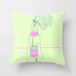 Rose and Pink Lemonade Throw Pillow
