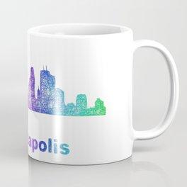 Rainbow Minneapolis skyline Coffee Mug