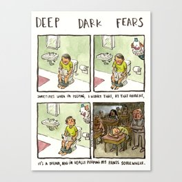 Deep Dark Fears 94 Canvas Print