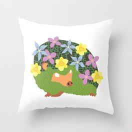 Spring Hedgehog Throw Pillow