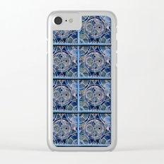 Blue windows Clear iPhone Case