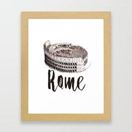 Rome watercolor Framed Art Print