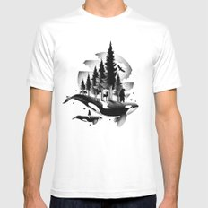 GREETINGS FROM THE PACIFIC NORTHWEST MEDIUM White Mens Fitted Tee