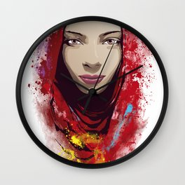 Rajasthan portrait Wall Clock
