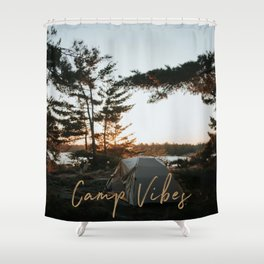 Camp Vibes Shower Curtain