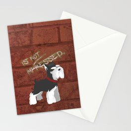 Miniature Schnauzer Puppy Dog | Terrier w Attitude / Angry Stationery Cards