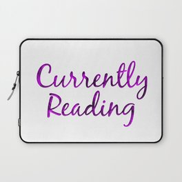 CURRENTLY READING purple with smoke Laptop Sleeve