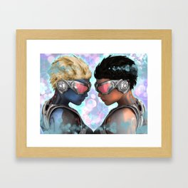 Head 2 Head Framed Art Print
