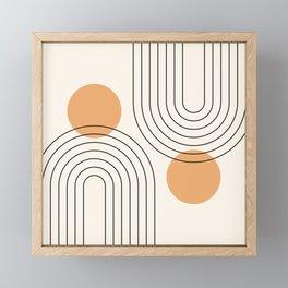 Mid Century Modern Geometric 61 (Rainbow and Sun Abstraction) Framed Mini Art Print