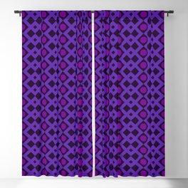 Geometric Design - Purple and Magenta - Diamonds Circles Squares Blackout Curtain