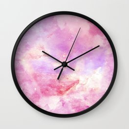 Pink galaxy star Wall Clock
