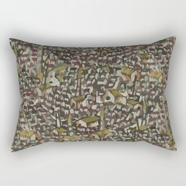 Map Collection: Medieval City Rectangular Pillow
