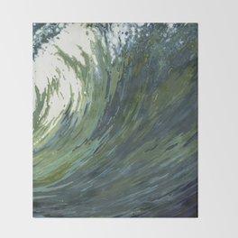 Big Pacific Ocean Wave Throw Blanket