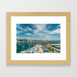 Luxury Yachts And Boats In Cascais Port At Atlantic Ocean, Wall Art Print, Luxury Resort Art, Poster Framed Art Print