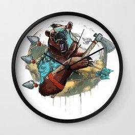 Animal rage Wall Clock