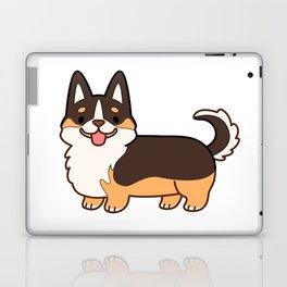 Keep calm and corgi on - tricolor Laptop & iPad Skin