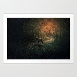 majestic forest guardian Art Print