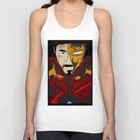 tony stark Tank Tops featuring Iron Man 3 (Tony Stark) by  Steve Wade ( Swade)